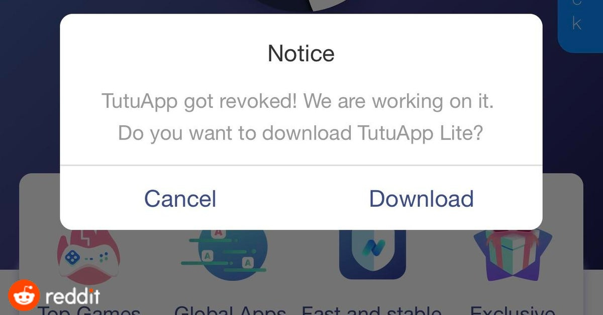 TutuApp is no more Free - Try TutuApp Lite (Stable Version) on iOS